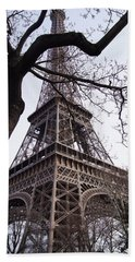 Looking Up To Eiffel  Hand Towel by Debi Demetrion