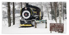 Loon Mountain Train Hand Towel