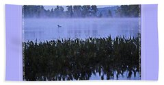 Loon On A Misty Morning At Parker Hand Towel by Joy Nichols