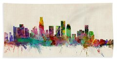 Los Angeles Skyline Hand Towels