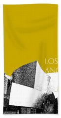 Los Angeles Skyline Disney Theater - Gold Hand Towel