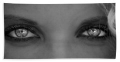 Bath Towel featuring the photograph Lost In Her Eyes by Sotiris Filippou