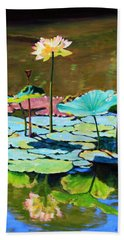 Lotus Above The Lily Pads Bath Towel