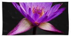 Lotus Hand Towel by Adam Romanowicz