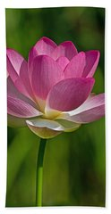 Bath Towel featuring the photograph Lotus Bloom by Jerry Gammon