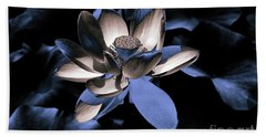 Lotus By Night Bath Towel