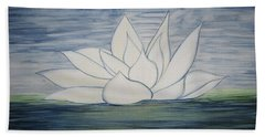 Lily  Hand Towel by Heather  Hiland
