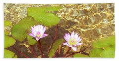 Hand Towel featuring the photograph Lotus by Mini Arora
