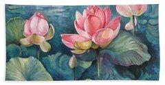 Lotus Pond Bath Towel
