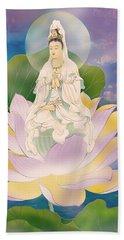 Lotus-sitting Avalokitesvara  Bath Towel