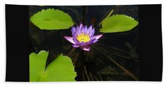 Bath Towel featuring the photograph Lotus Garden by John Glass