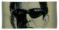 Lou Reed Painting Bath Towel