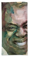 Louis Armstrong Bath Towel by Laur Iduc