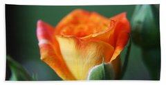 Louisiana Orange Rose Hand Towel