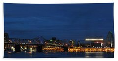 Bath Towel featuring the photograph Louisville Skyline by Deborah Klubertanz