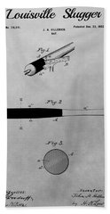 Louisville Slugger Patent Drawing Hand Towel by Dan Sproul