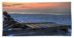 Lounge Closeup On Beach ... Hand Towel
