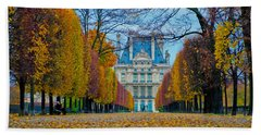 Louvre In Fall Hand Towel