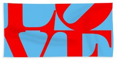 Love 20130707 Red Blue Hand Towel