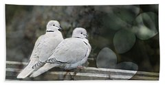 Love Birds Bath Towel