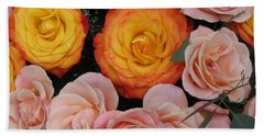 Love Bouquet Bath Towel by HEVi FineArt