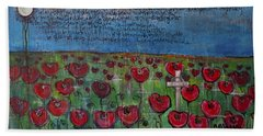 Love For Flanders Fields Poppies Hand Towel