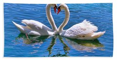 Love For Lauren On Lake Eola By Diana Sainz Hand Towel