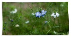 Bath Towel featuring the photograph Love In A Mist by Liz  Alderdice