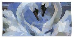 Hand Towel featuring the painting Love In Blue by Dragica  Micki Fortuna
