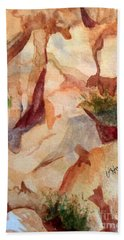 Love In The Rocks Medjugorje 2 Hand Towel by Vicki  Housel