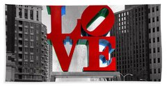 Love Is Always Black And White Square Bath Towel