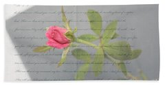 Love Letter Lyrics And Rose Bath Towel