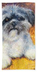 Love My Lhasa Hand Towel by Laurie Morgan