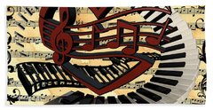 Love Of Music  Hand Towel