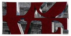 Love Philadelphia Red Mosaic Hand Towel