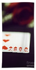 Hand Towel featuring the photograph Love Trick by Trish Mistric
