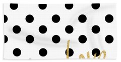 Love With Dots Hand Towel