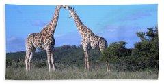 Lovers On Safari Bath Towel