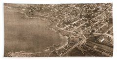Aerial Of Lovers Point And Pacific Grove California July 10 1906 Bath Towel
