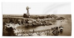 Lovers Point Beach And Old Wooden Pier Pacific Grove August 18 1900 Bath Towel