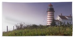 Low Angle View Of A Lighthouse, West Hand Towel