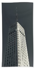 Low Angle View Of The Foshay Tower Bath Towel