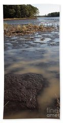 Low Tide At Blackwater Wildlife Refuge In Maryland Hand Towel