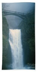 Lower Multnomah Falls Through The Mist Hand Towel