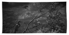 Loxahatchee Heron At Sunset Bath Towel