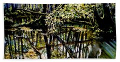 Lubianka-4 Mystery Of Swamp Forest Bath Towel by Henryk Gorecki