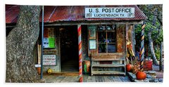 Luckenbach Texas Bath Towel by Judy Vincent