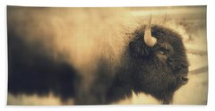 Lucky Yellowstone Buffalo Bath Towel by Lynn Sprowl