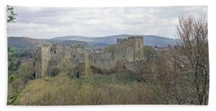 Ludlow Castle Hand Towel by Tony Murtagh