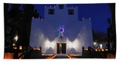 Luminarias At St Francis De Paula Bath Towel by Vivian Christopher